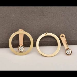 Jewelry - Circle drop earrings Gold